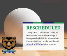 8/31 Volleyball Game Rescheduled