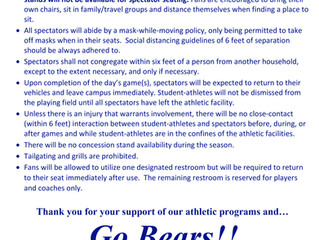 Bevill State 2021 Spring Outdoor Athletic Spectator Policy