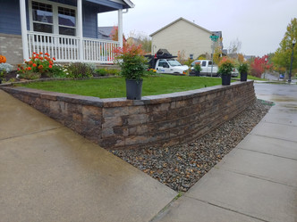 After Front Retaining Wall