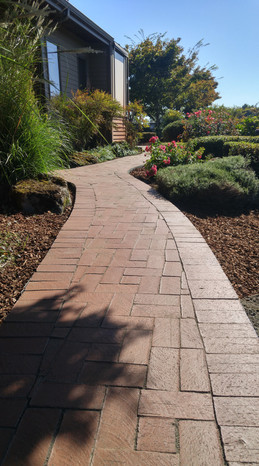 Clay Pavers walkway