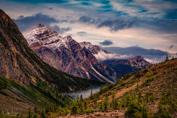 A view from Mount Edith Cavell