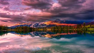 Beauvert Lake sunset