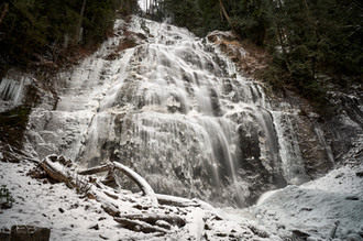 Bridal Veil falls in winter