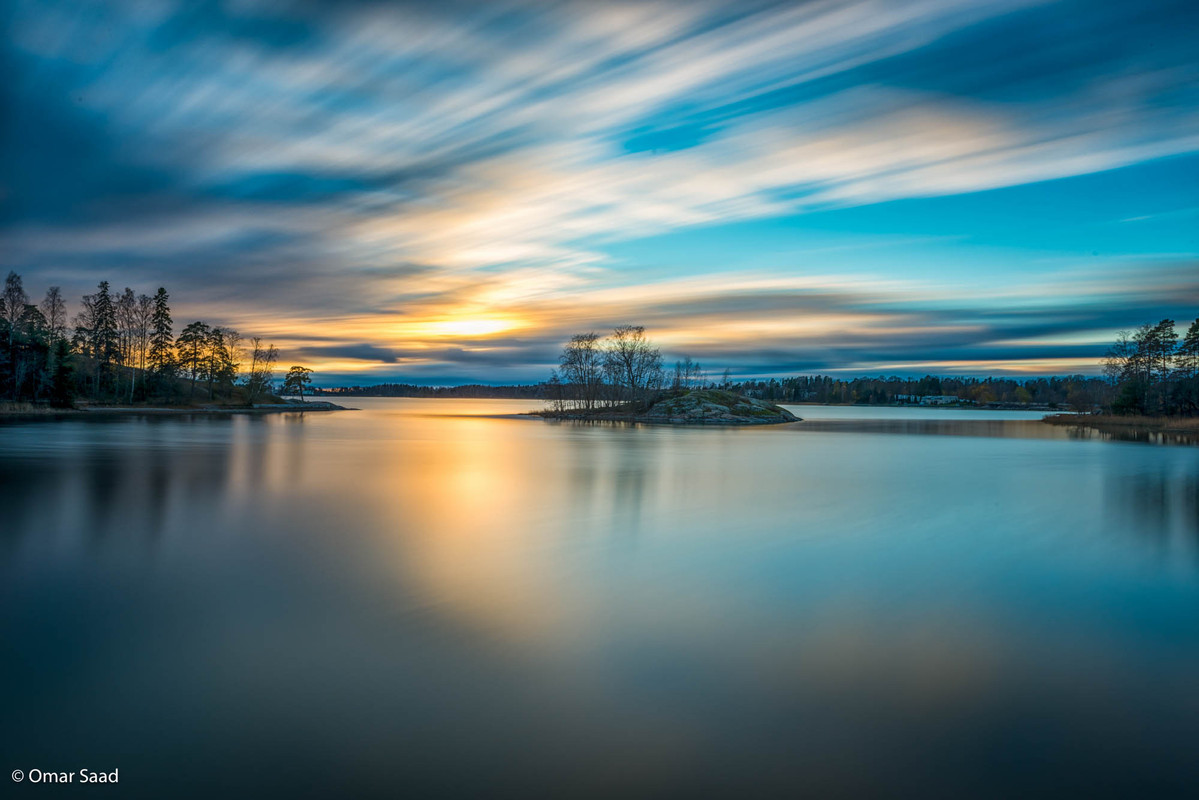 Sunset at Seurasaari island