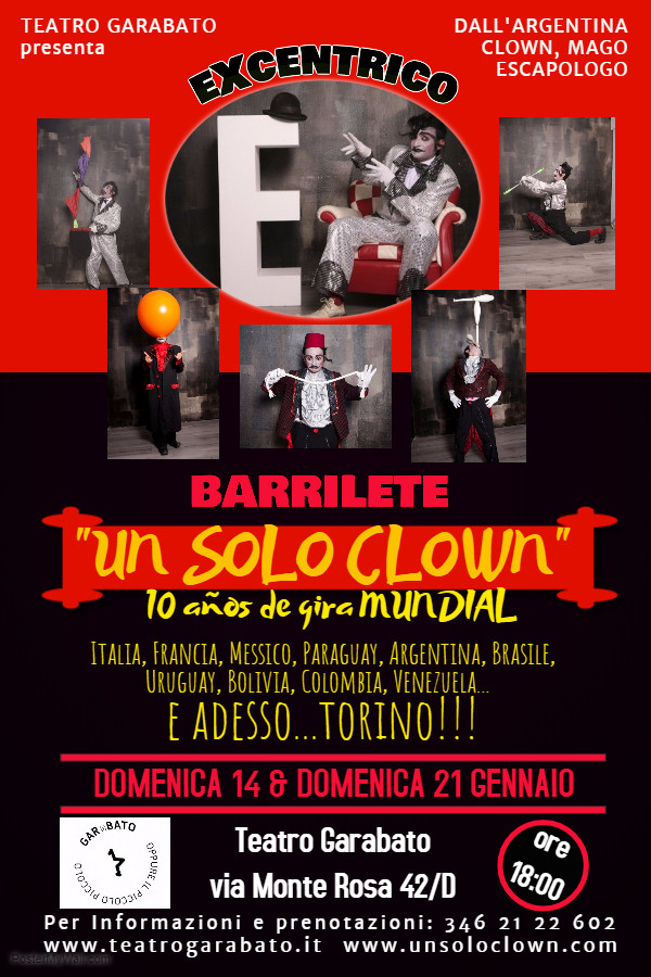 UN SOLO CLOWN EXCENTRICO BARRILETE