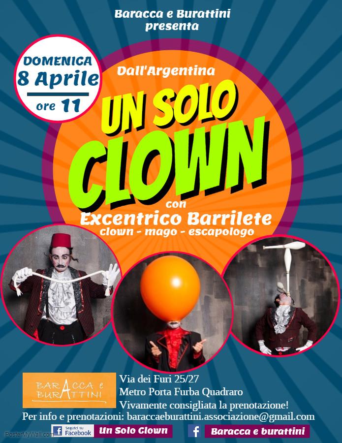 ECCENTRICO BARRILETE UN SOLO CLOWN COMPANY
