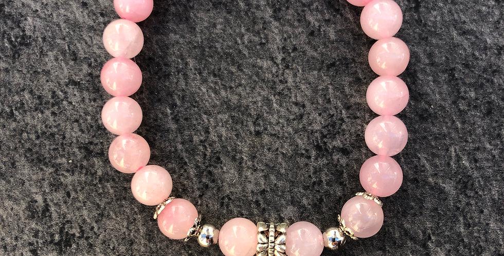 Angel Wing Rose Quartz Bracelet