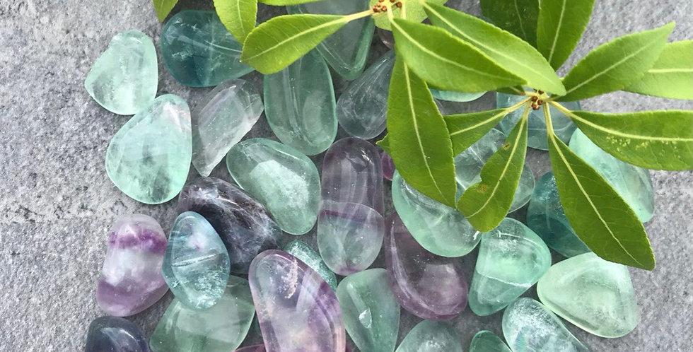 Rainbow Flourite Tumblestone