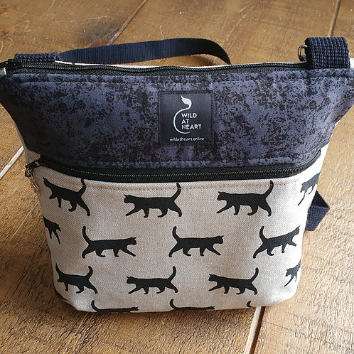 Black Walking Cats - Zipper Bag