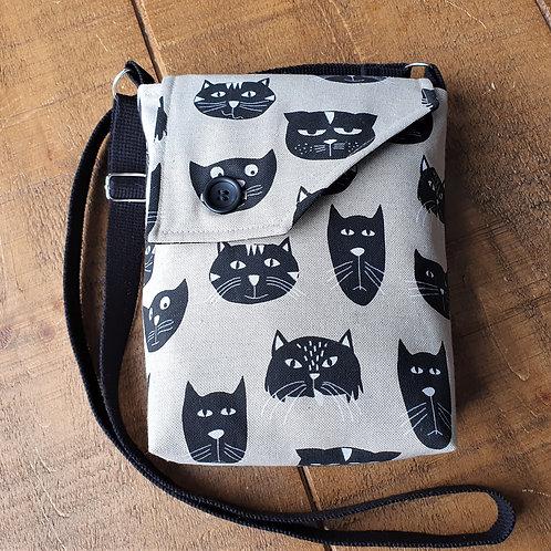 Black Cat Heads - Cross Body Bag