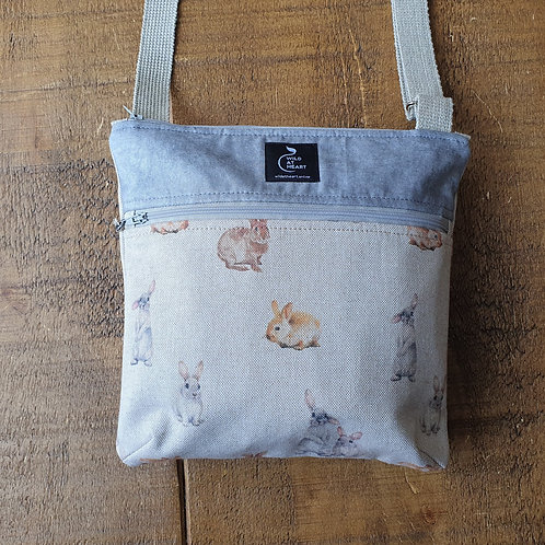 Bunnies / Rabbit - Zipper Bag