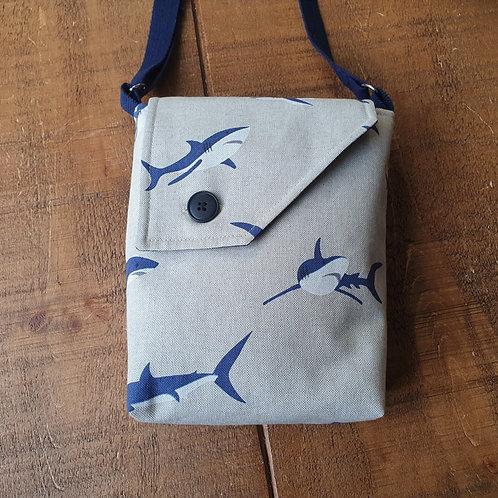 Shark cross body bag