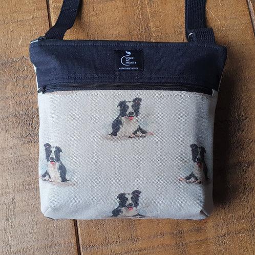 Border Collie cross body bag