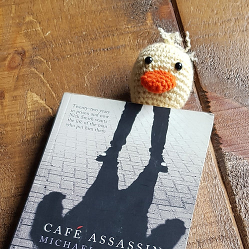Duck - Crocheted Bookmark