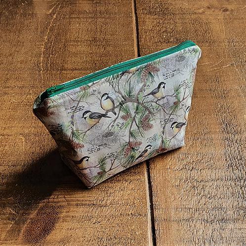 Bird / Chickadee cosmetics bag