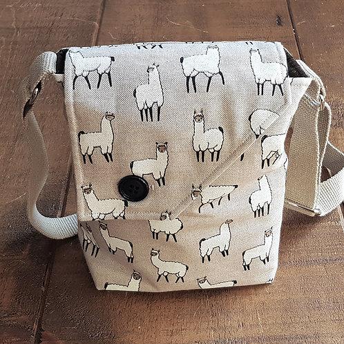 Llama / Alpaca Cross Body Canvas Bag