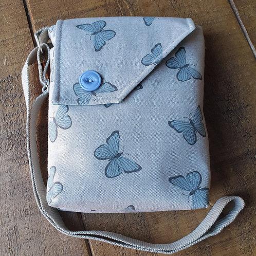 Blue Butterfly Cross Body Bag