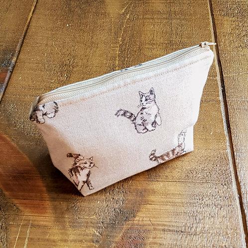 Kitten cosmetics bag