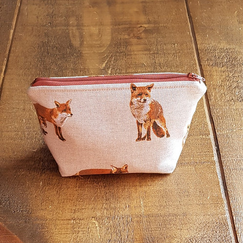 Fox cosmetics bag