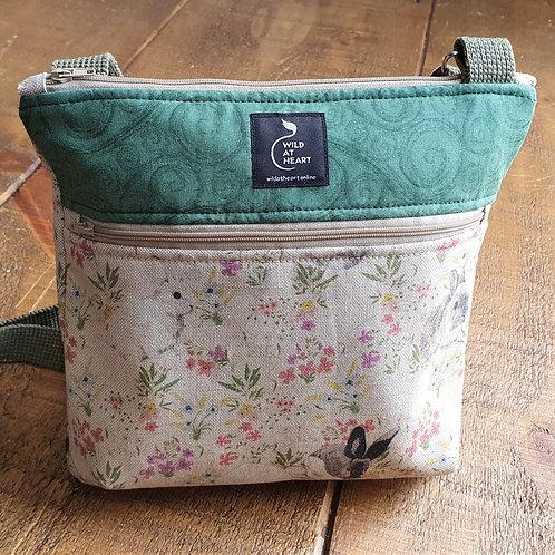 Rabbit and Flora - Zipper Bag