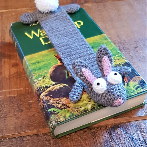 Rabbit - Crocheted Bookmark