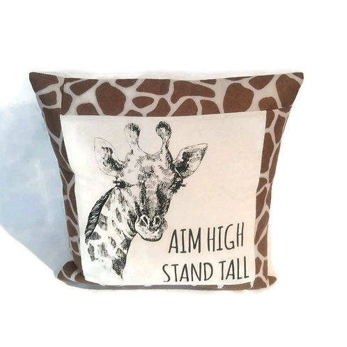 Giraffe cushion cover