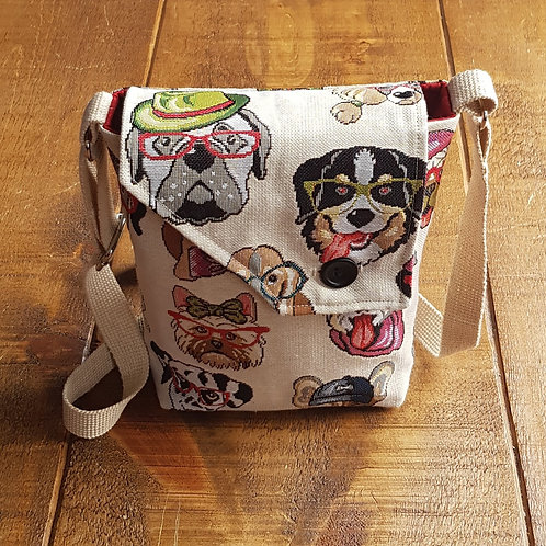 Tapestry Dog Cross Body Bag - custom orders available