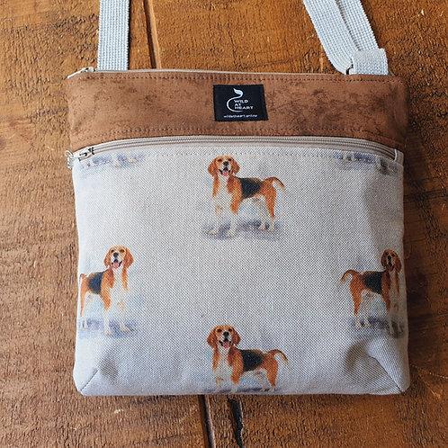 Beagle cross body bag with zips