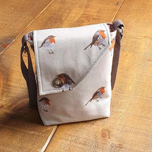 Robin bird Cross Body Bag - canvas bag
