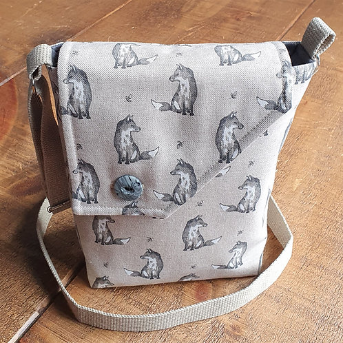 Fox Cross Body Bag - Grey