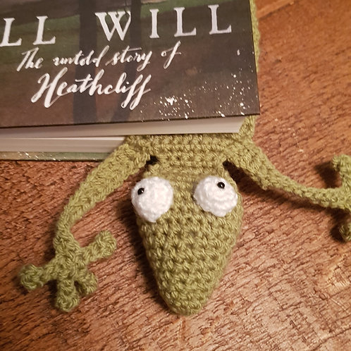 Gecko / Lizard - Crocheted Bookmark