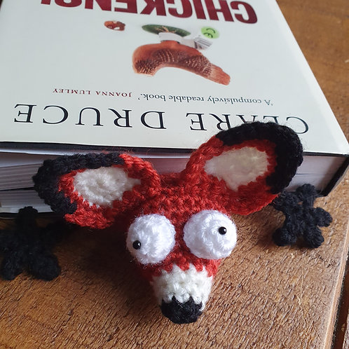 Fox - Crocheted Bookmark