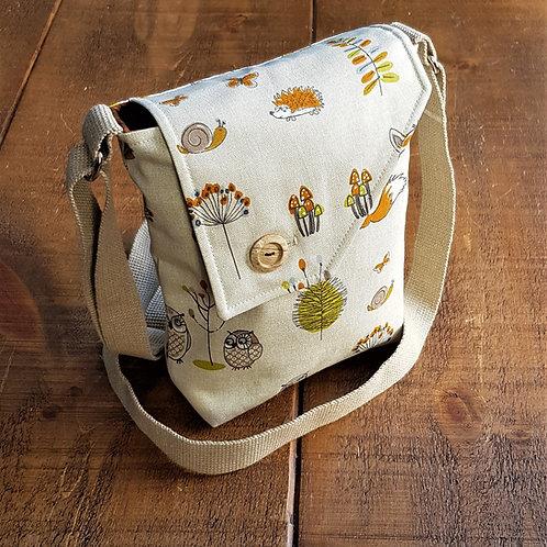 Woodland Animal - cross body bag - Canvas bag