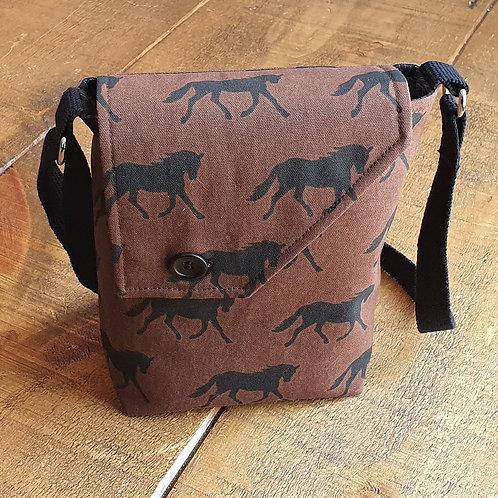 Black Horse Cross Body Bag
