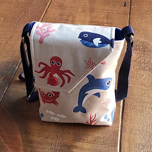 Sea Creatures Cross Body Bag