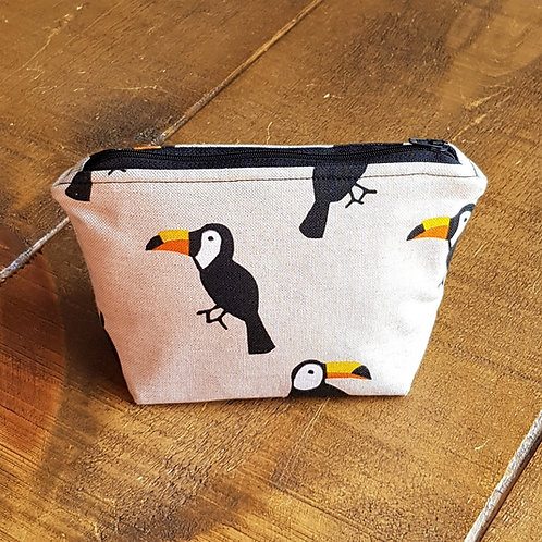 Toucan cosmetics bag