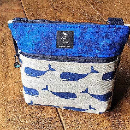 Whale  - Zipper Bag