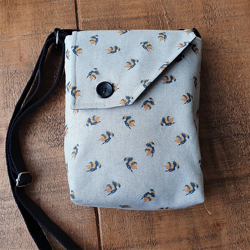 Bumblebee - cross body bag - Linen bag