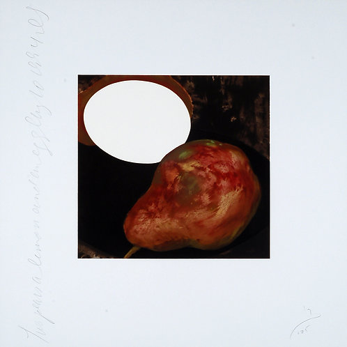 Donald Sultan: Two Pears, a Lemon, and an Egg, August 10 1994