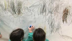 O debuxo de texturas / El dibujo de texturas
