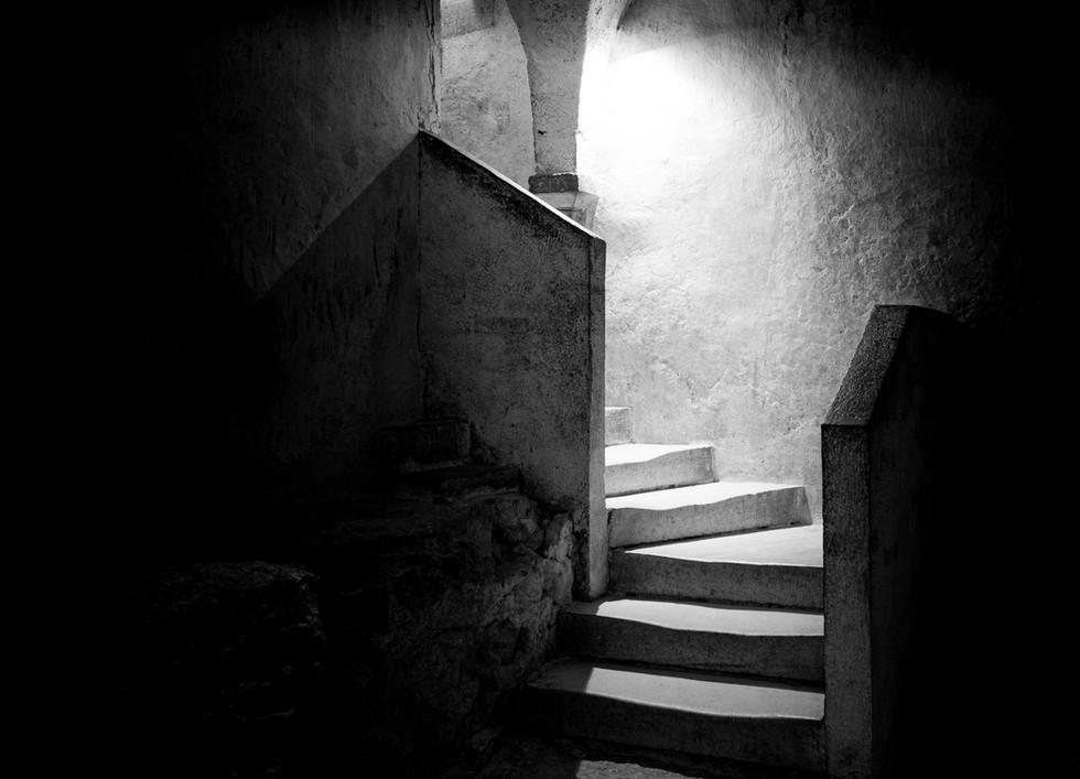 Escalier de la crypte de Vézelay