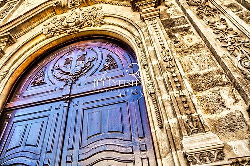 Church Door, Havana Cuba, Street Photography