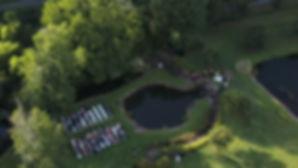 wedding ceremony drone phot