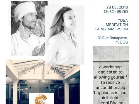Atelier de kundalini, méditation et gong