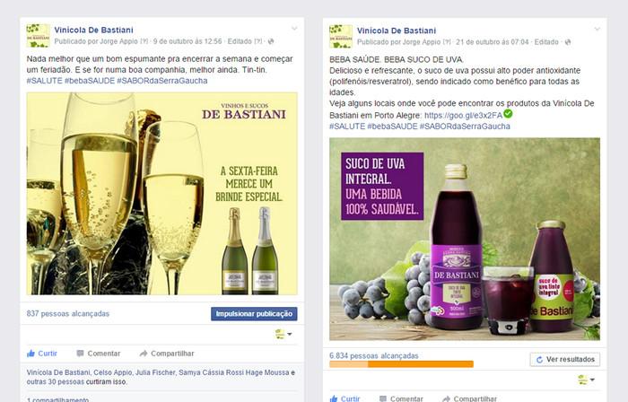 Vinícola De Bastiani investe em relacionamento via Facebook