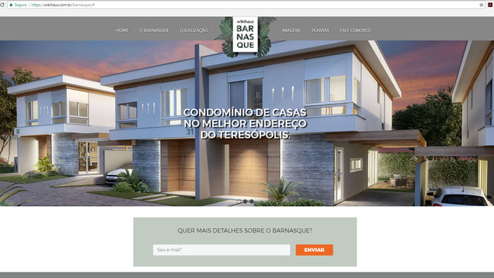 Site Wikihaus Barnasque apresenta detalhes do novo empreendimento no Teresópolis