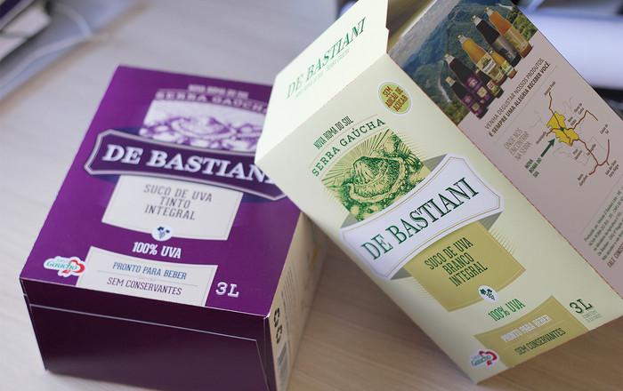 Vinícola De Bastiani lança suco de uva integral em versão bag 3 litros