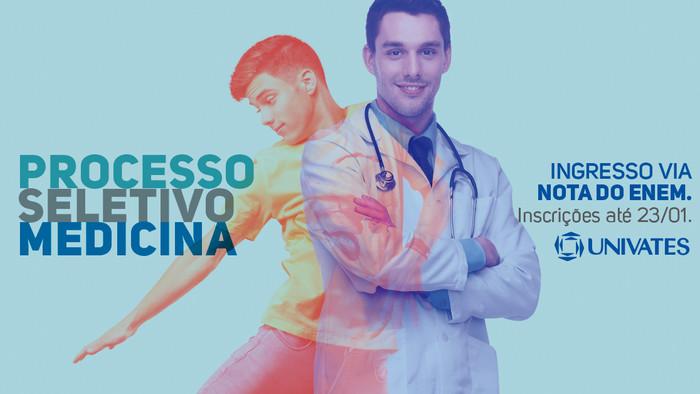 Ingresso na Medicina Univates é via nota do ENEM e vai até dia 23/01.