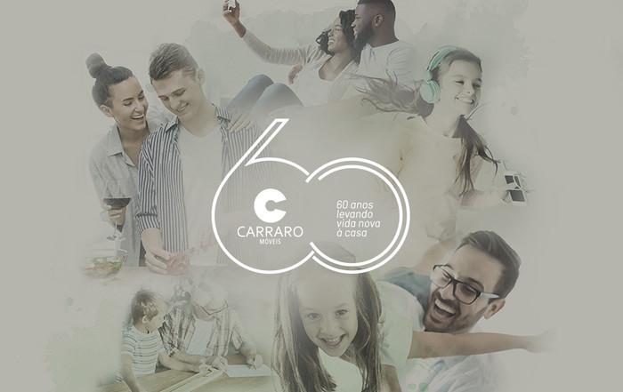 SPRAY cria marca e catálogo de 60 da Móveis Carraro de Bento Gonçalves/RS