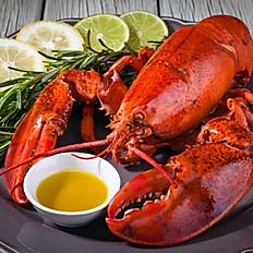 Steamed Live lobster0